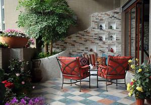 欧式风格小别墅露台花园设计图