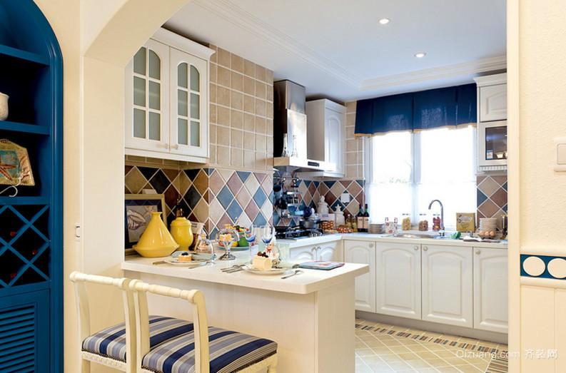 两室一厅地中海风格厨房设计装修效果图