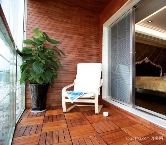 自建别墅大型欧式露台花园装修效果图
