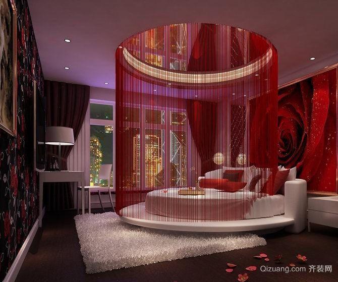 浪漫婚房卧室装修效果图