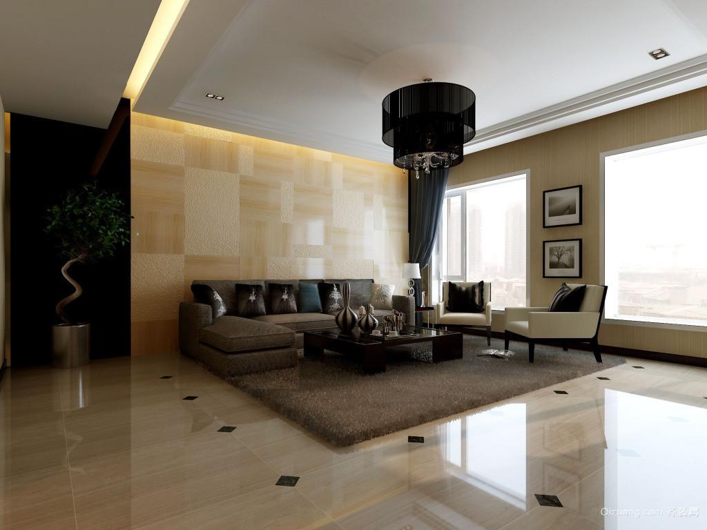 大户型欧式客厅沙发背景墙装修效果图