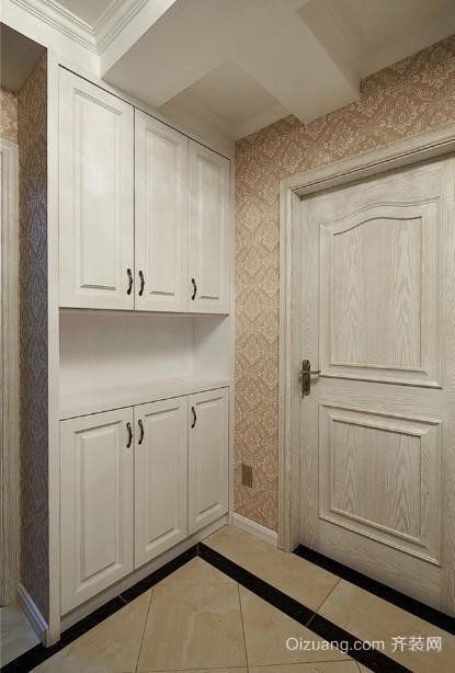 两室一厅简欧风格玄关鞋柜装修效果图