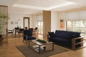 两室一厅日式简约客厅装修效果图