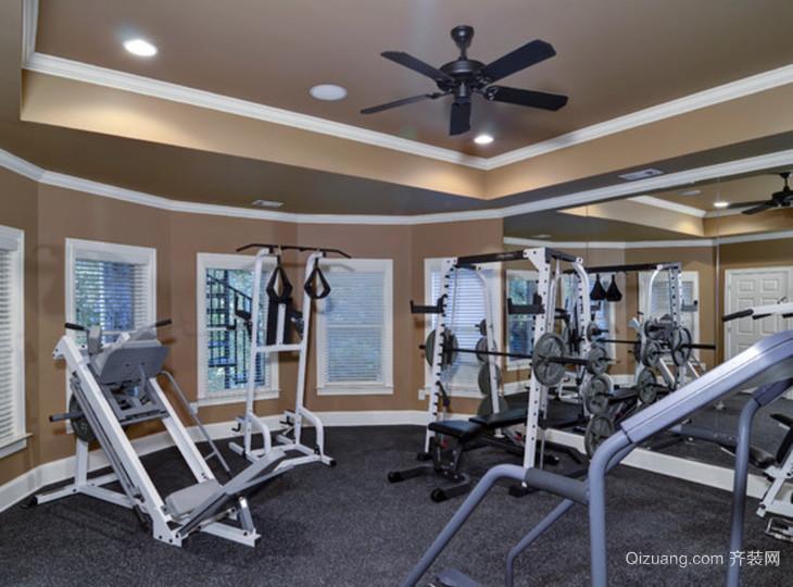 高档别墅健身房装修效果图