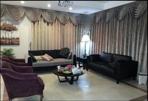 120平米大户型简欧别墅客厅窗帘装修效果图
