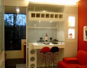 110㎡现代风格家庭吧台设计装修效果图