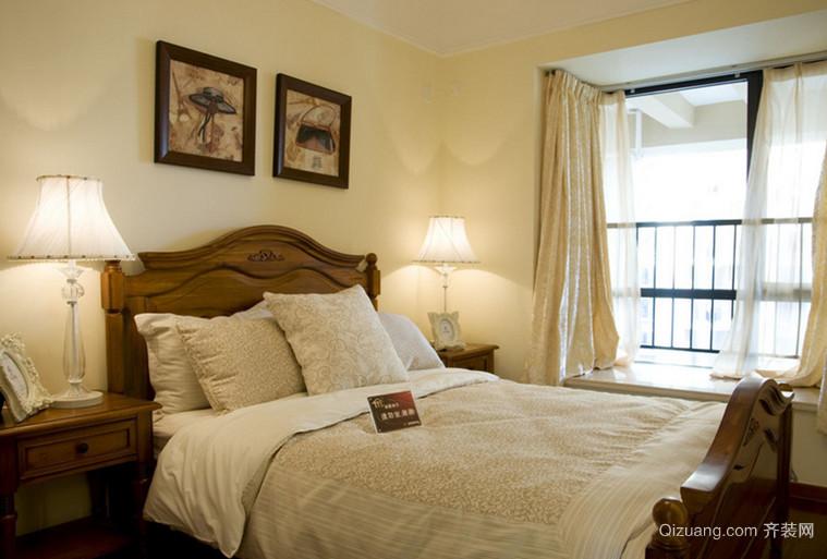 大户型乡村风格卧室背景墙设计装修效果图