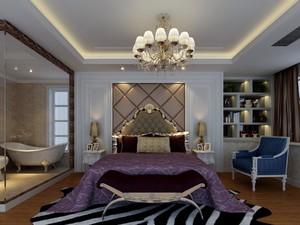 单身公寓巴洛克风格卧室背景墙装修效果图