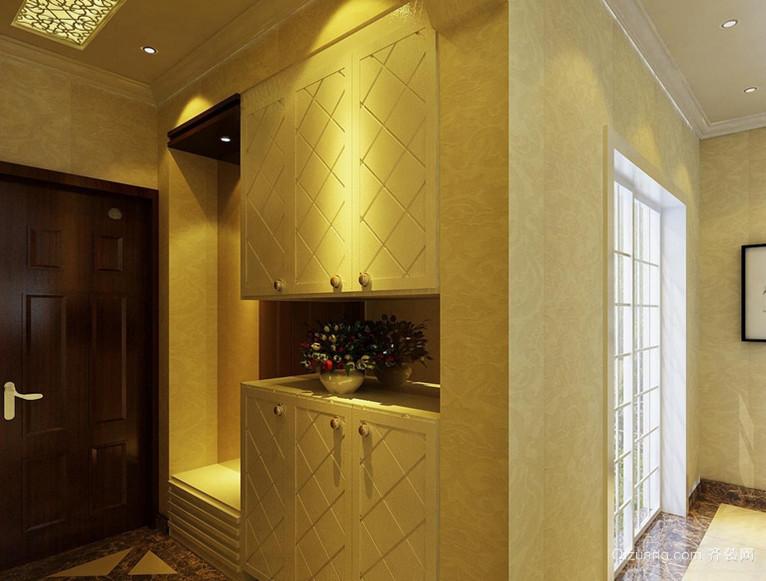 中小户型简约欧式玄关鞋柜设计装修效果图