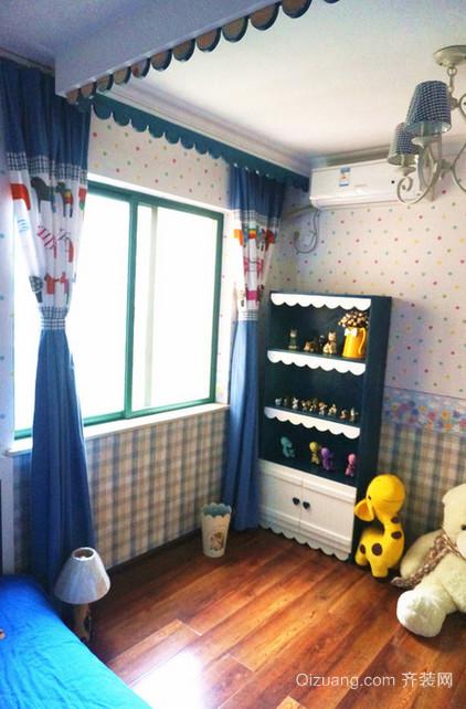 儿童房地中海风格墙纸装修效果图