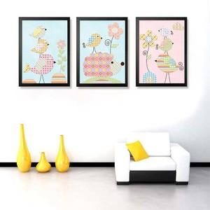 欧式小户型客厅沙发背景墙彩色装饰画集锦