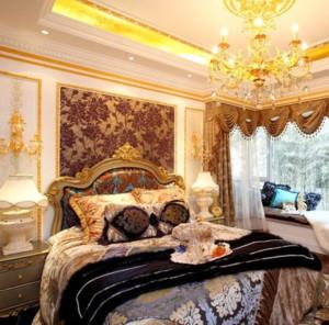 70平米巴洛克风格精美卧室装修效果图