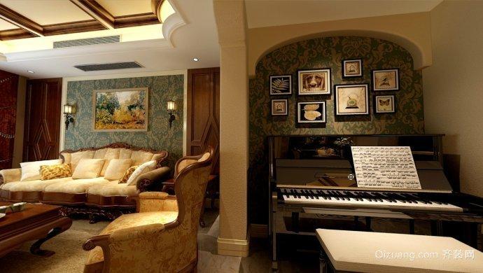 美式琴房装修设计图欣赏