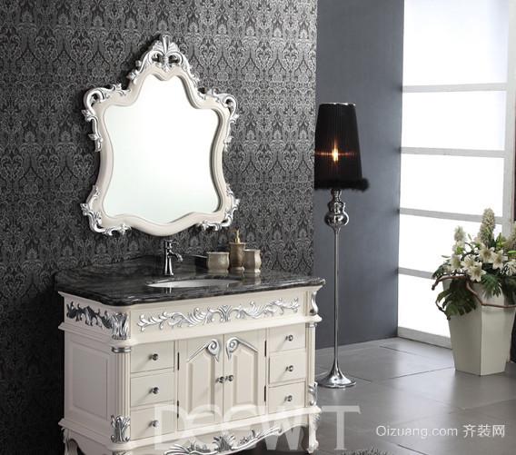欧式时尚整体浴室柜装修效果图