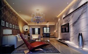 复式楼欧式客厅躺椅背景墙装修效果图