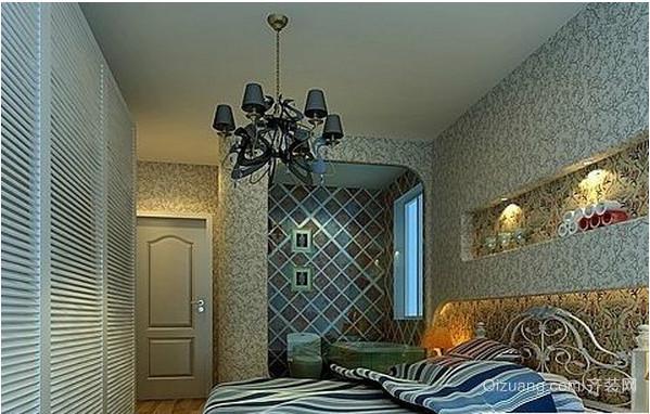 地中海卧室壁纸装修效果图