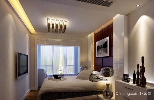 90平米现代风格卧室背景墙设计装修效果图