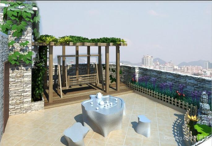 顶层阳台露台装修设计效果图
