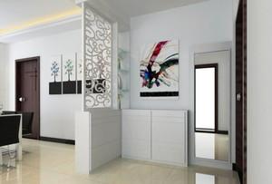 三室一厅欧式客厅鞋柜背景墙装修效果图