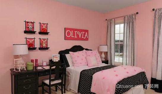 小户型儿童房卧室窗帘装修效果图