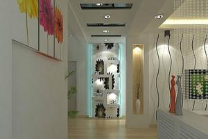 单身公寓欧式客厅走廊吊顶装修效果图