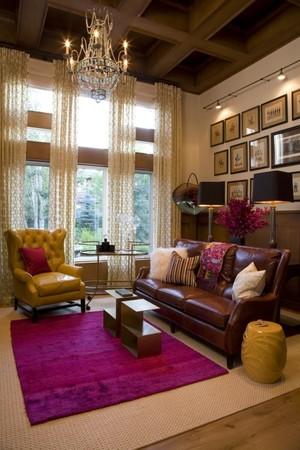 美式简约风格客厅吊灯效果图展示