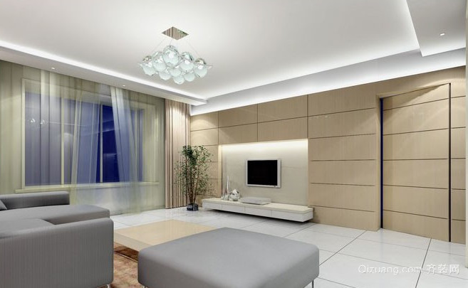现代简约风格客厅隐形门装修效果图