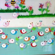 精致的幼儿园背景墙图