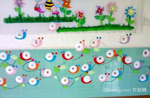 创意幼儿园走廊墙面布置图
