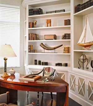 120㎡美式书房设计装修效果图