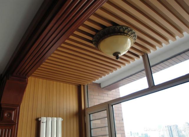 生态木吊顶家居装修设计效果图