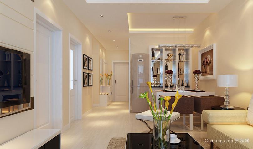 100㎡简约现代风格客厅吊顶电视背景墙装修效果图