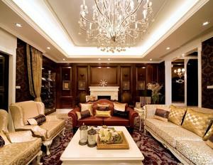 豪华欧式风格客厅装修效果图