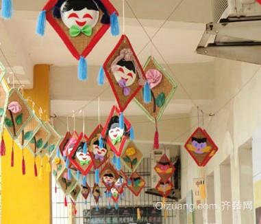 幼儿园创意走廊吊饰装修图