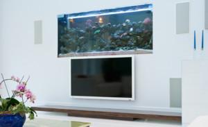 别墅客厅鱼缸造景装修效果图