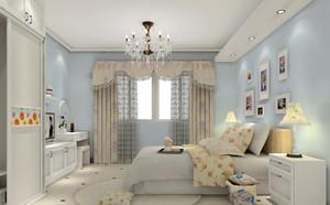 100平米韩式风格卧室背景墙设计装修效果图