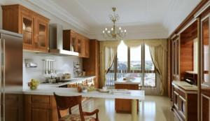 70平米美式开放式厨房装修效果图