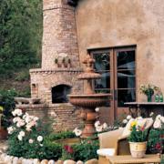 庭院设计背景墙图