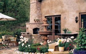 美式田园风格庭院设计效果图