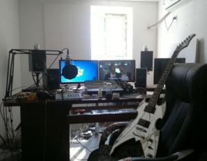 现代简约音乐录音棚工作室装修效果图