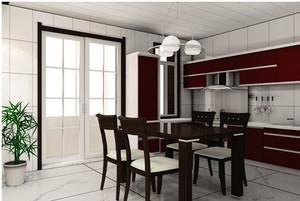 大户型餐厅胡桃米家具装修设计效果图