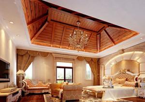 148㎡精致奢华风格卧室背景墙设计装修效果图