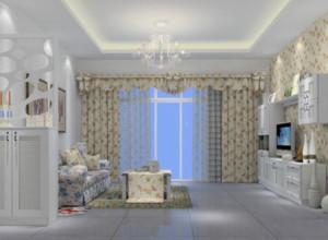 70平米韩式田园风格客厅装修效果图