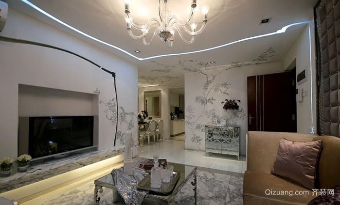 135㎡法式风格客厅装修效果图