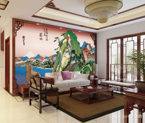 家庭装饰日式风格装饰画装修效果图