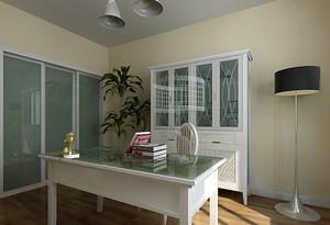 110㎡三居室地中海风格书房设计装修效果图