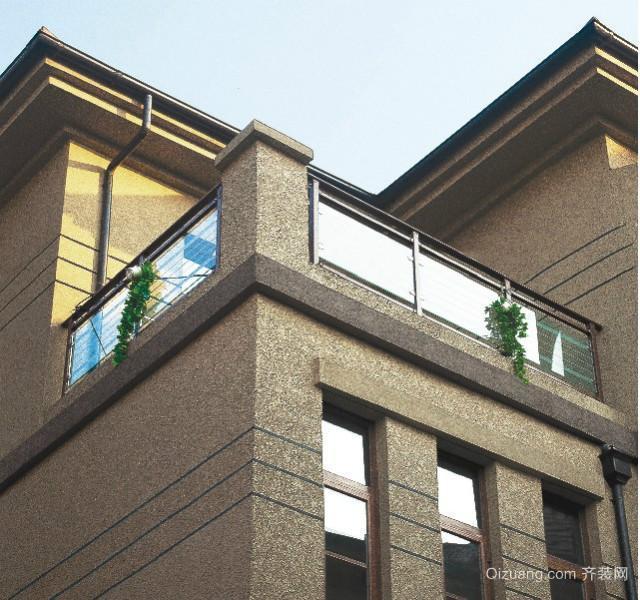 别墅现代阳台不锈钢护栏装修效果图