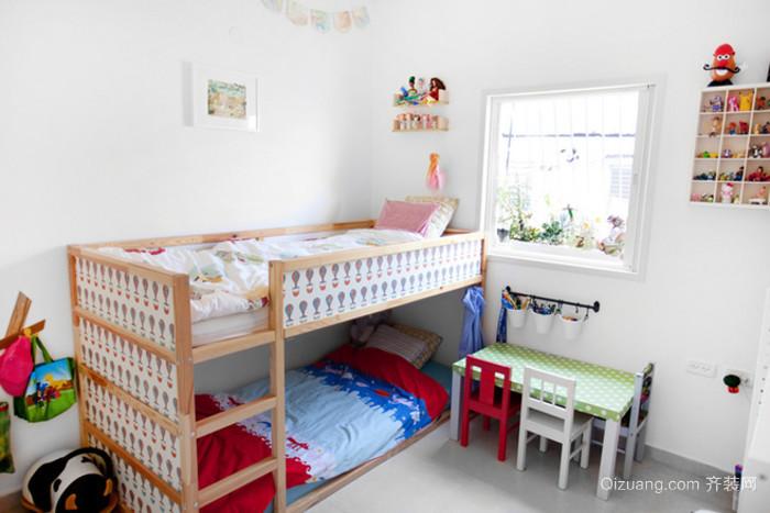 欧式小户型公寓小清新双层儿童床
