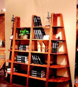 50平米书屋开放式书架装修效果图