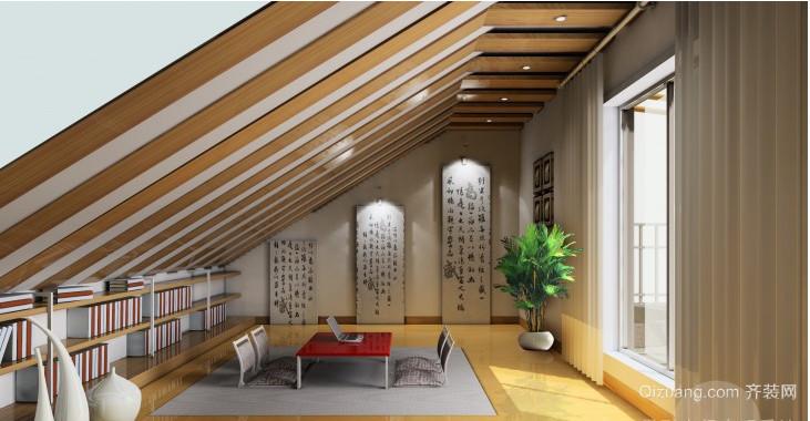 中式复古阁楼装修效果图